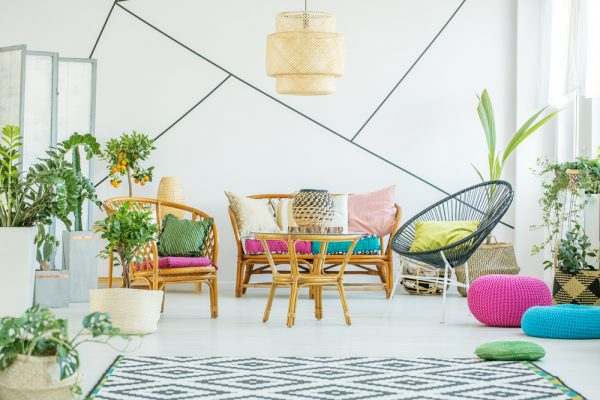 Cane Furniture for living room