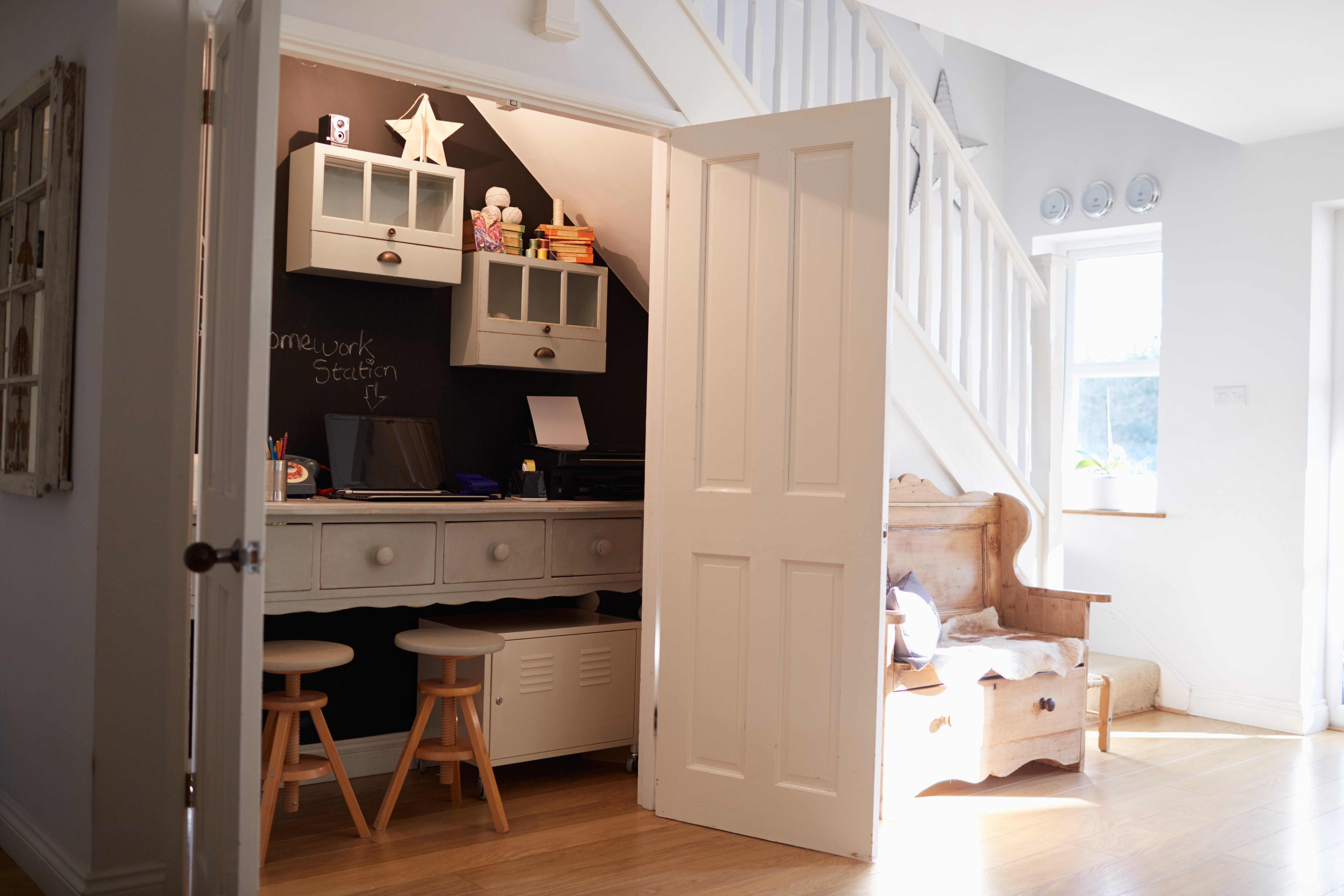 Under Stairs Kids Craft Room