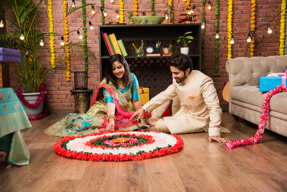 floral decoration for karwa chauth